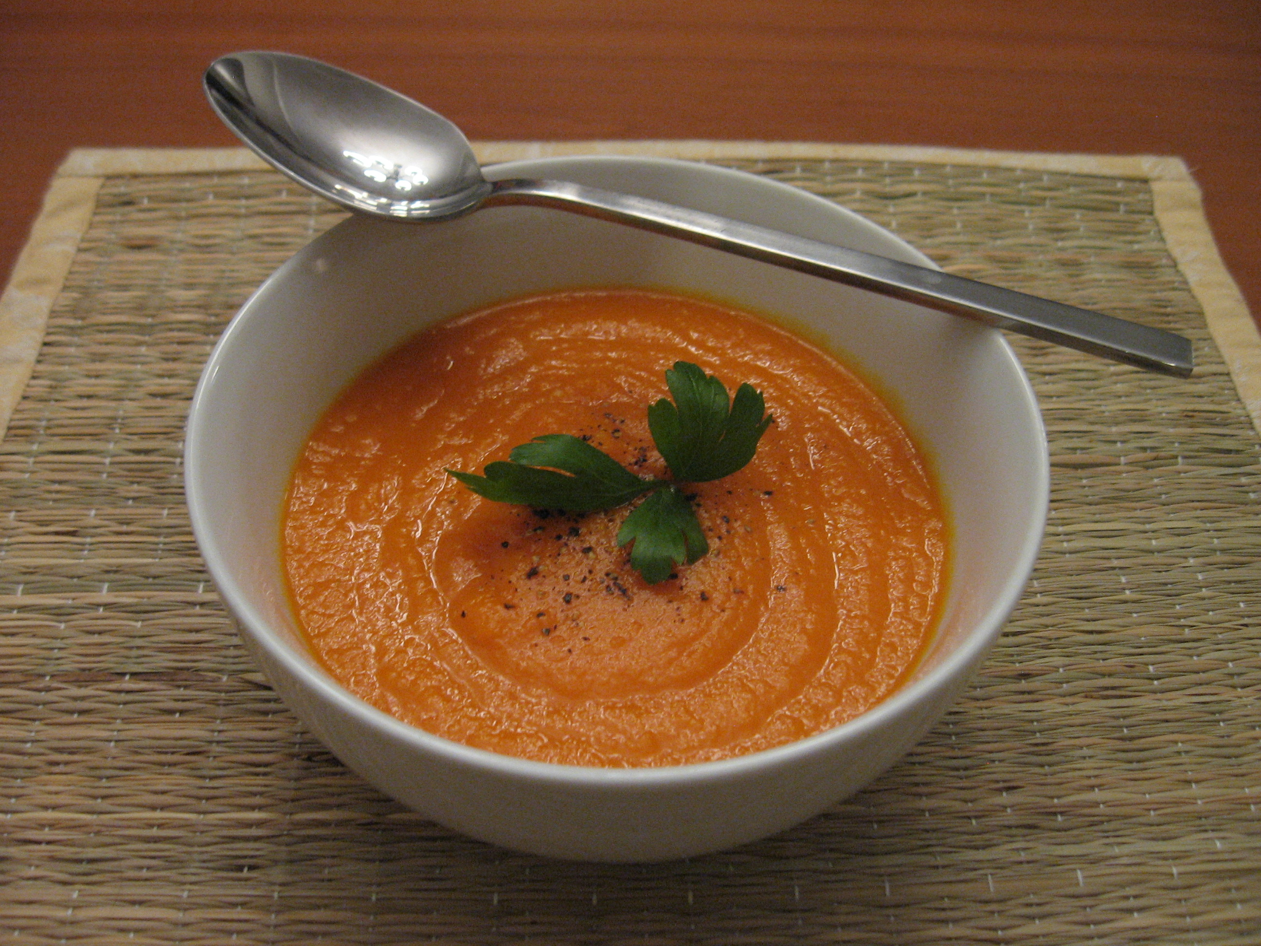 El Cheapo Carrot and Orange Soup