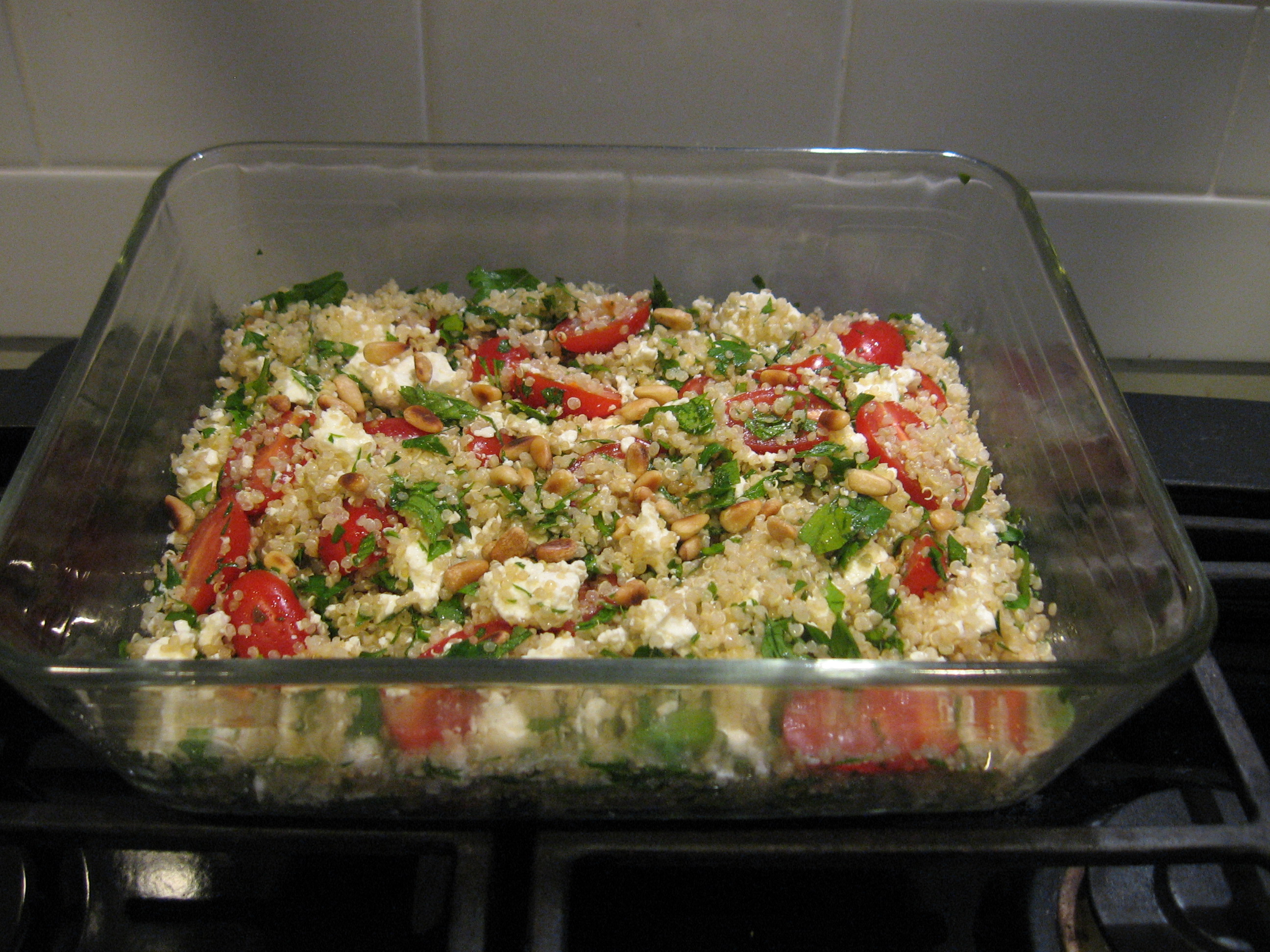 Quinoa (Keen-wah) Salad with Tomatoes, Feta + Fresh Herbs