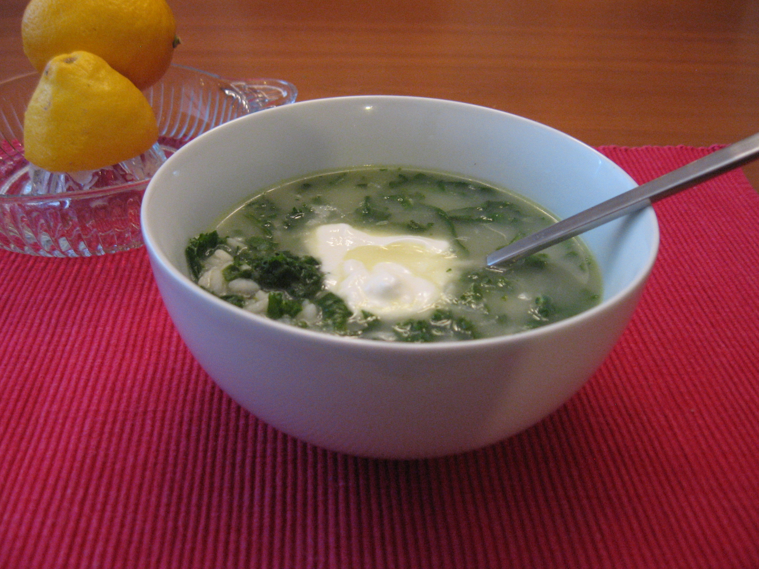 Emma's Spinach (with 1000 Lemons for Jordan) Soup
