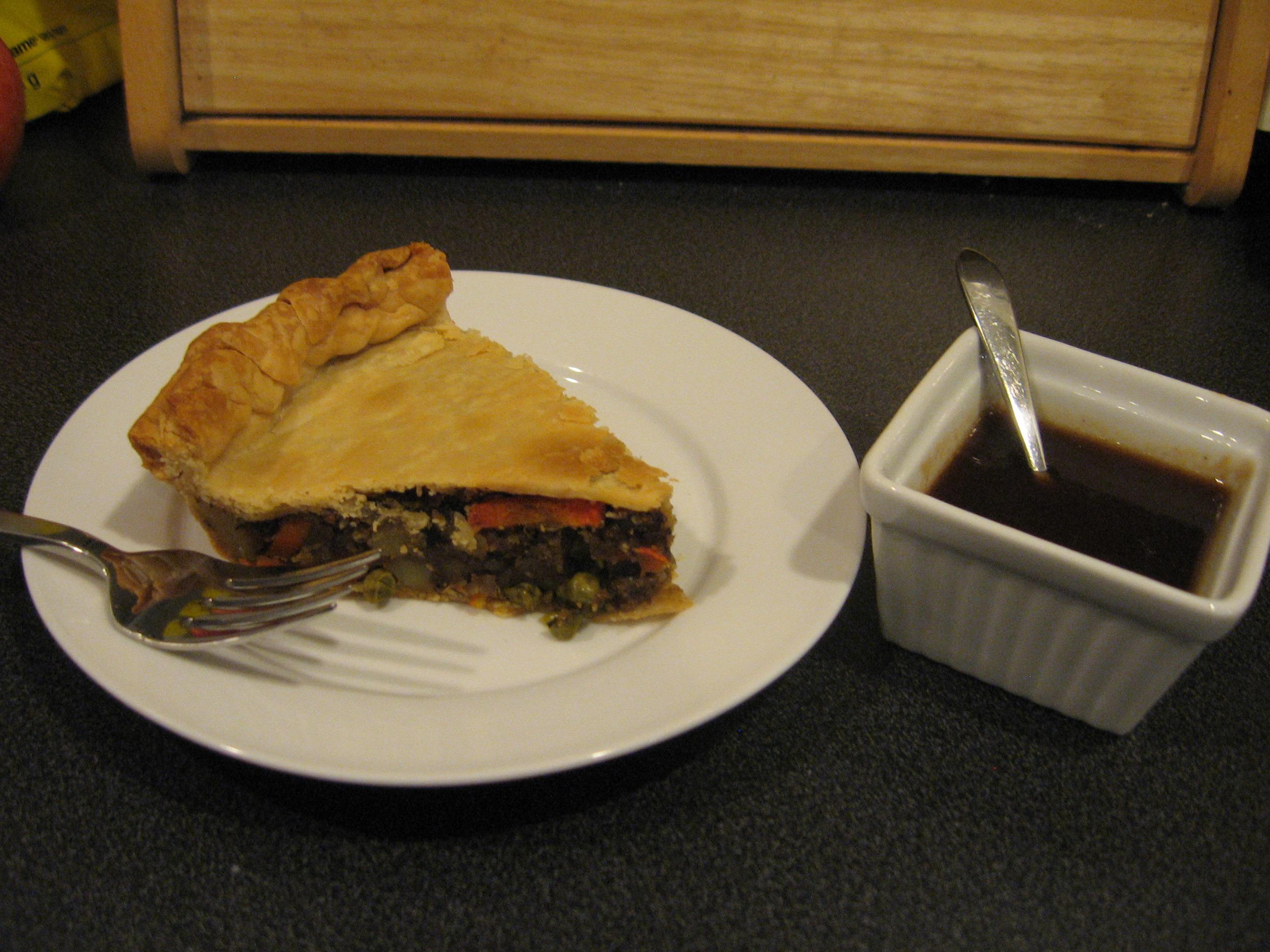 Samosa Pie with Tamarind Sauce