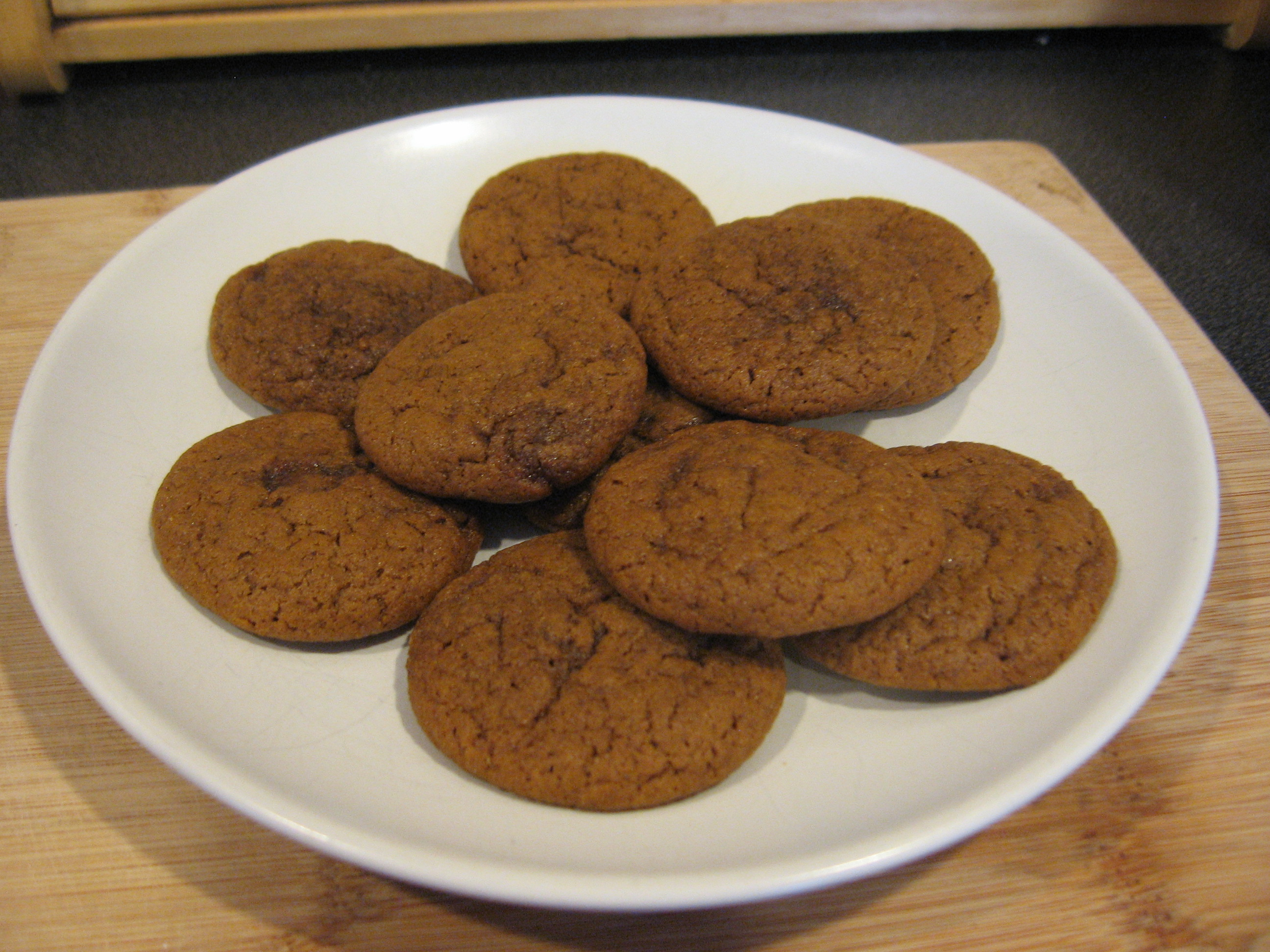 Holiday Cookie 3 (Ginger Snaps with White Pepper)