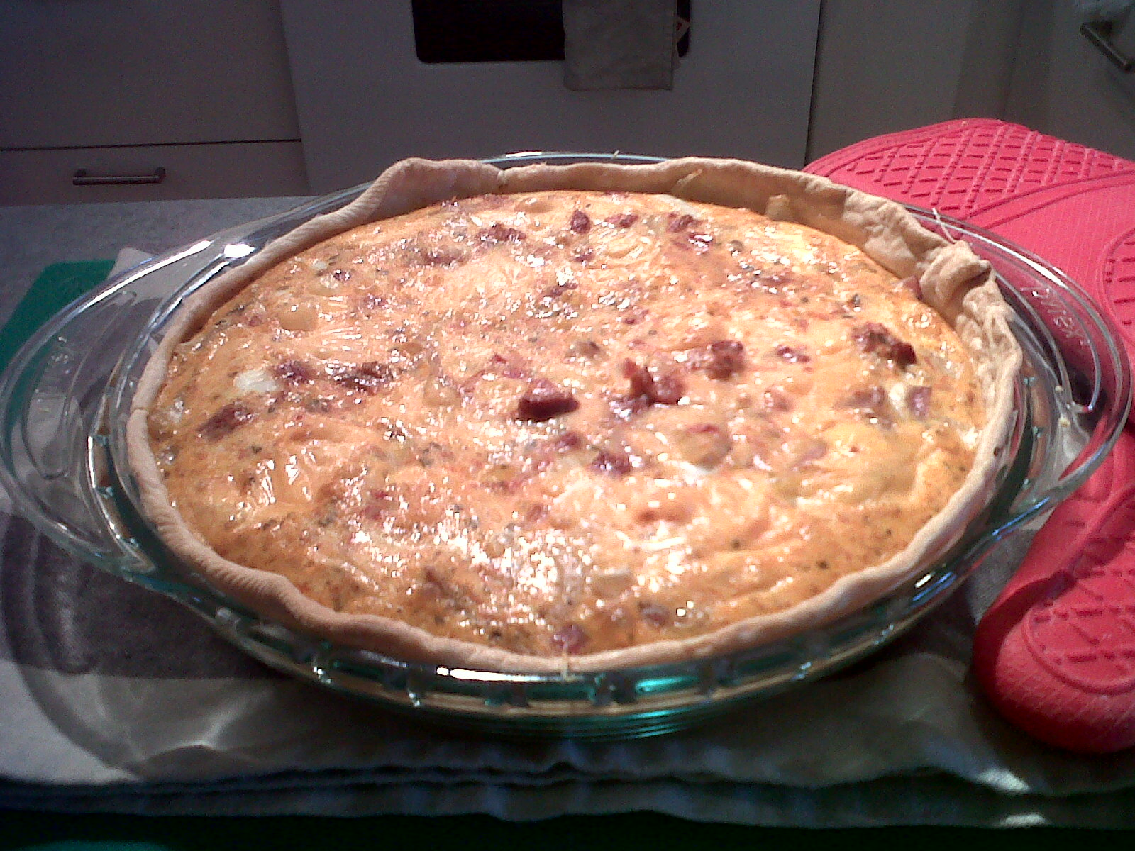Savoury Cheese and Onion Pie…Without the Bacon