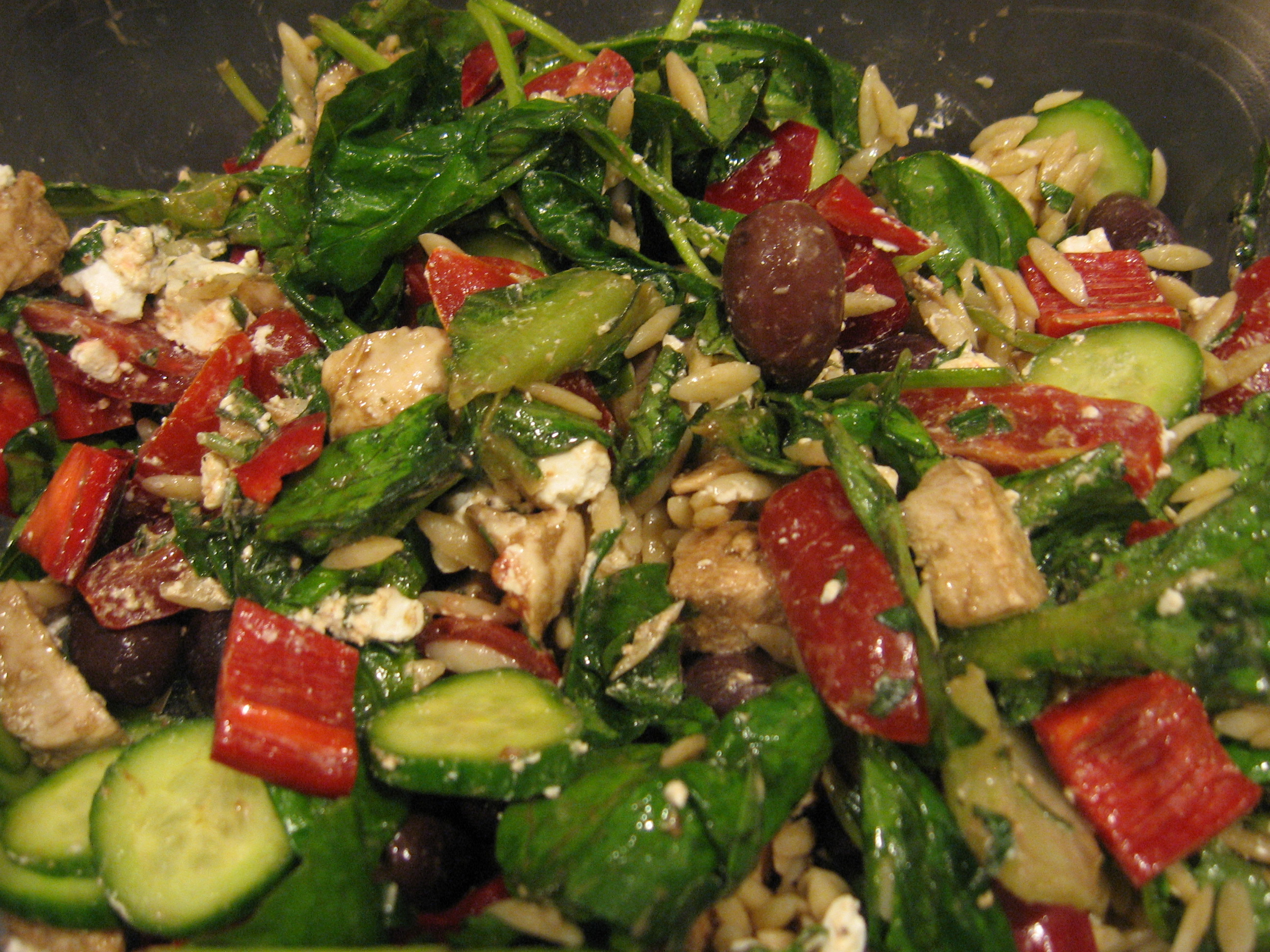 Orzo Pasta Salad with Chicken