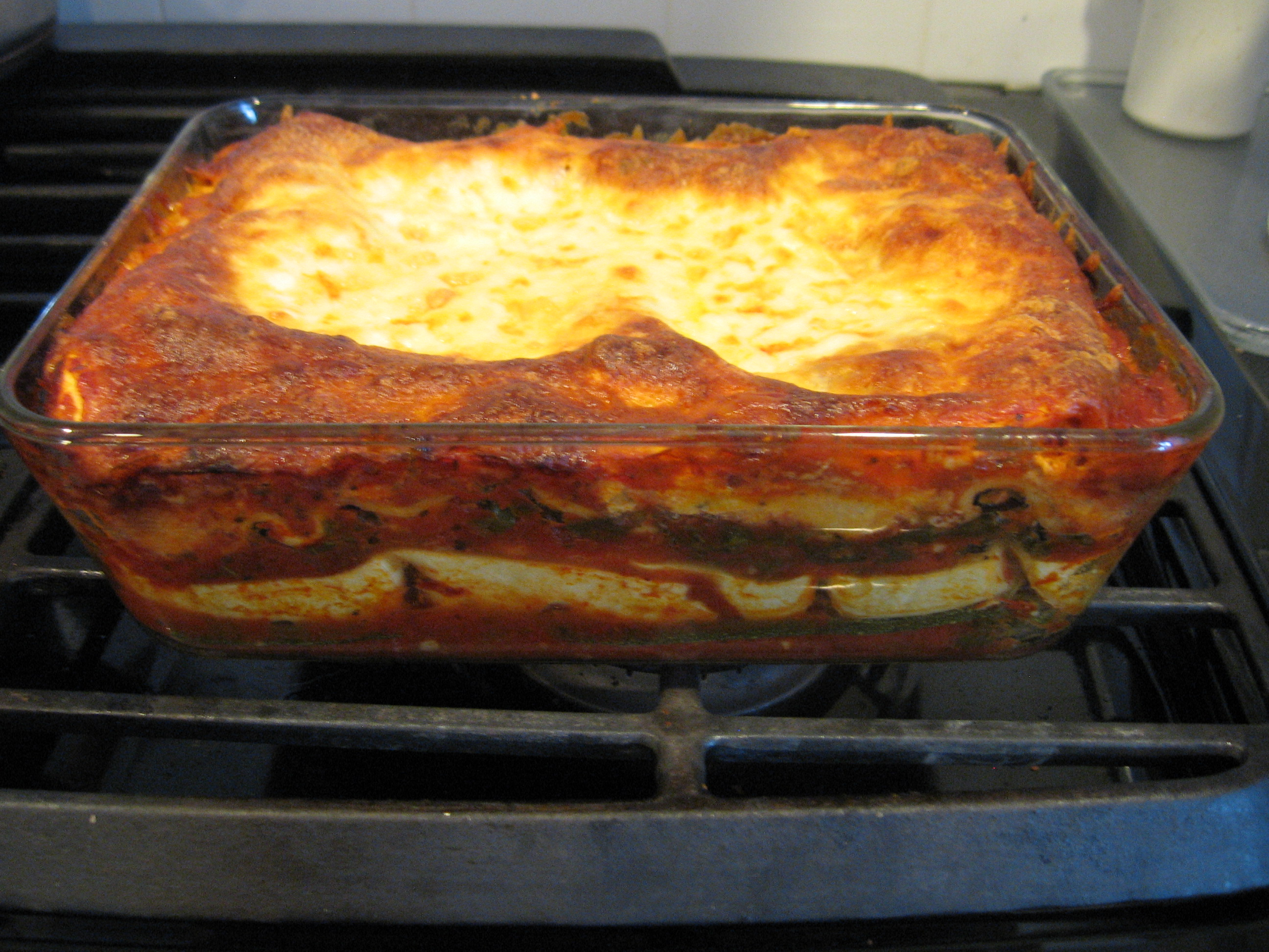 Vegetarian Lasagne with Zucchini and Kale (aka La, La, La, Lasagne)