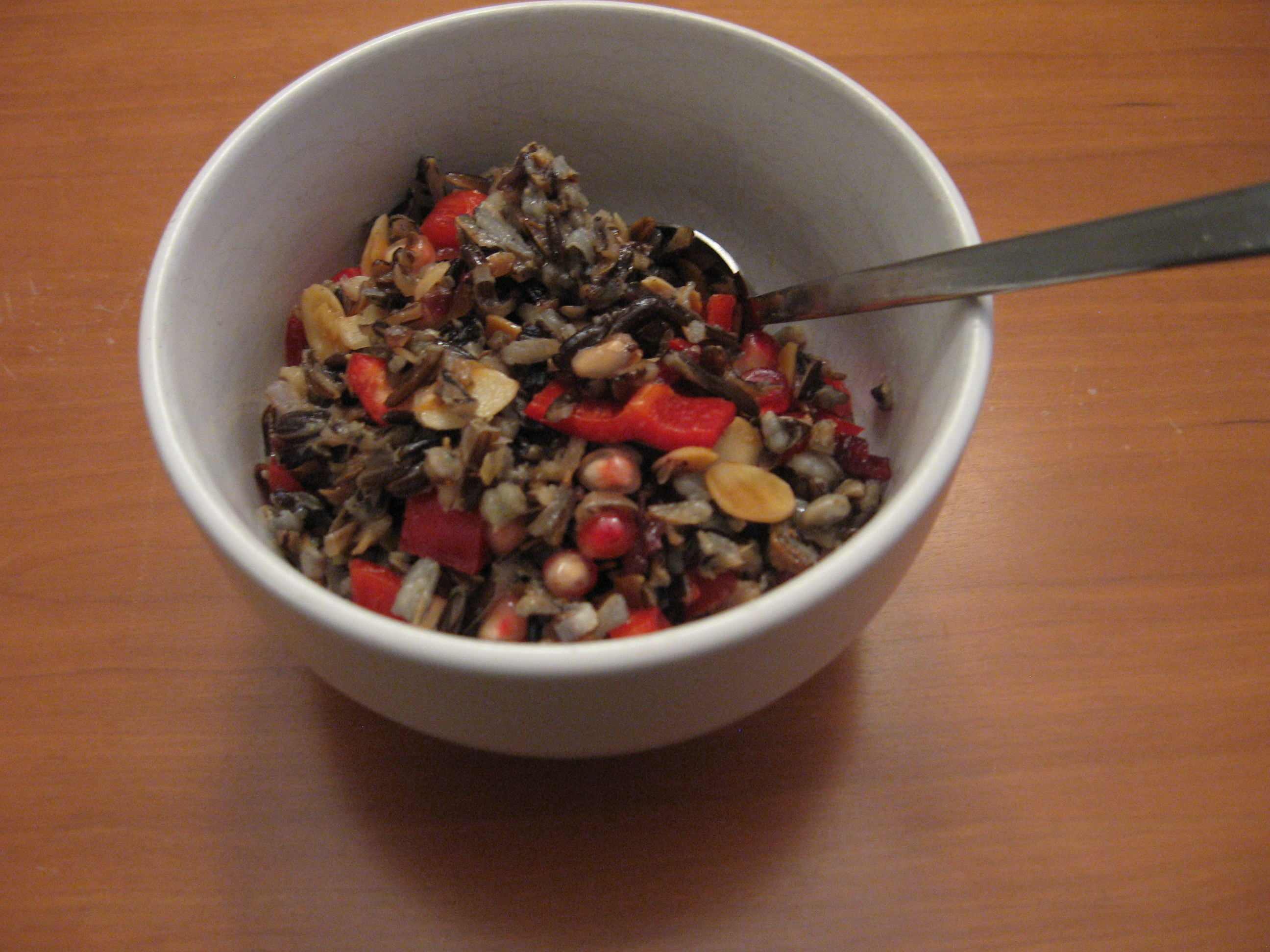 Wild Rice Salad with Cranberries and Almonds