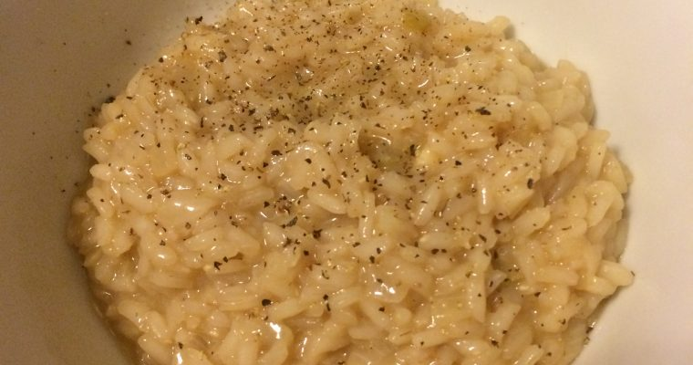Rosé Risotto with Cheddar Cheese (Say what now?)