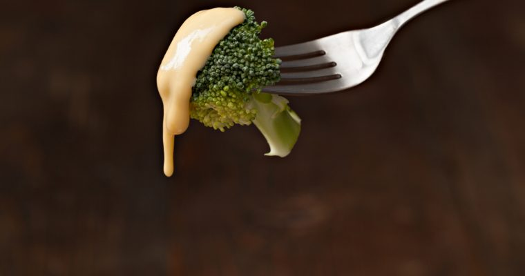 Broccoli and Homemade Cheese Sauce
