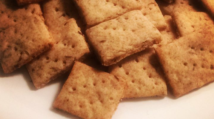 Rye Crackers – Tweaked Version of Bob's Red Mill Rye Crackers