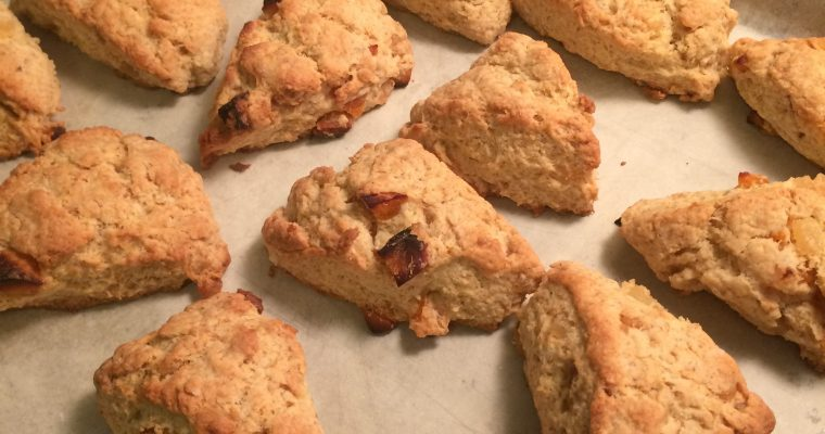 Triple Ginger Scones with Apricots – #Yasss