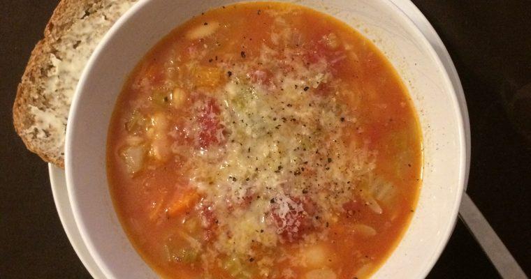 Chicken Bone Broth Vegetable Soup