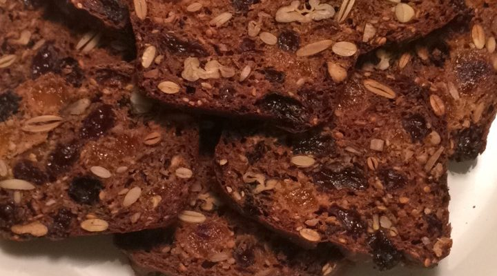 Rosemary Pecan Raisin Crackers