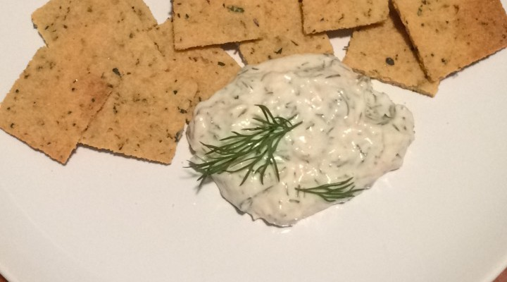 Coconut Flour Crackers with Fine Herbes and Garlic Salt