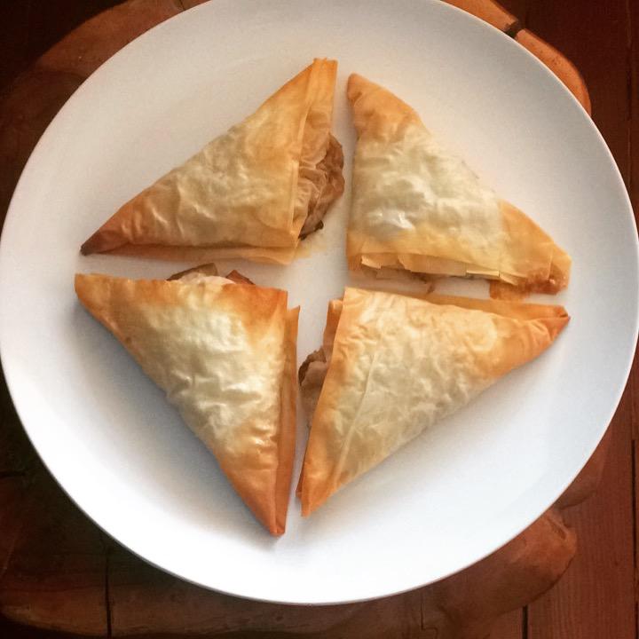 Pork Empanadas with Phyllo Pastry