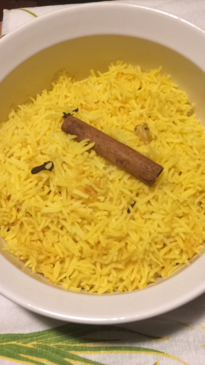 Fragrant Basmati Rice with Cinnamon, Cloves, Cardamom and Tumeric