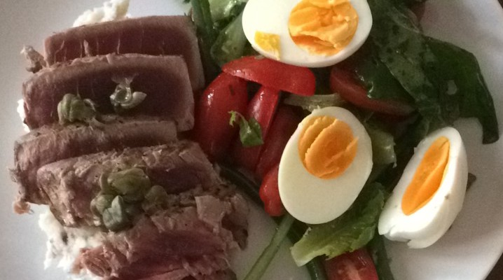 Deconstructed Salade Niçoise with Seared Ahi Tuna – Mother's Day Dinner