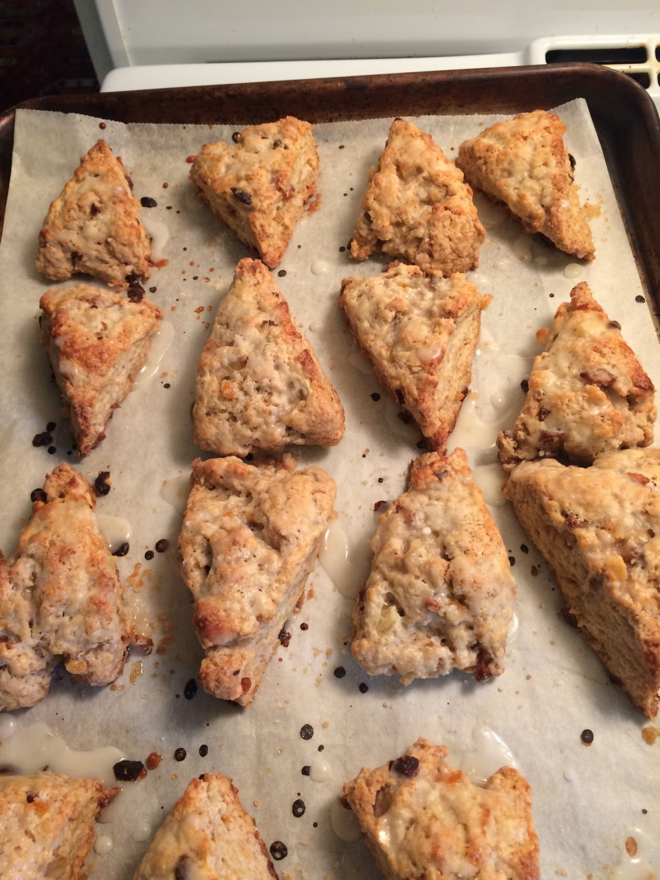 Candied Orange Peel and Citrus Scones
