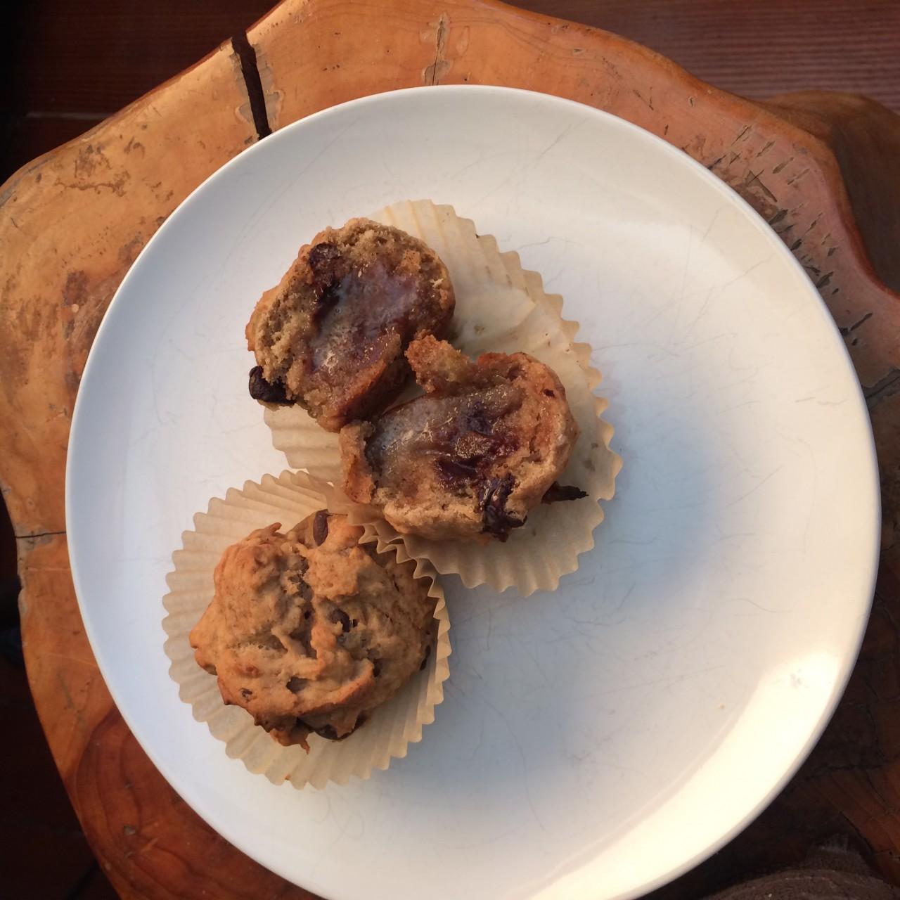 Vegan, Gluten Free Banana Chocolate Chip Muffins