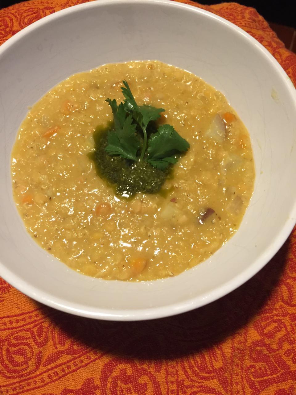 Red Lentil Soup with Lemon