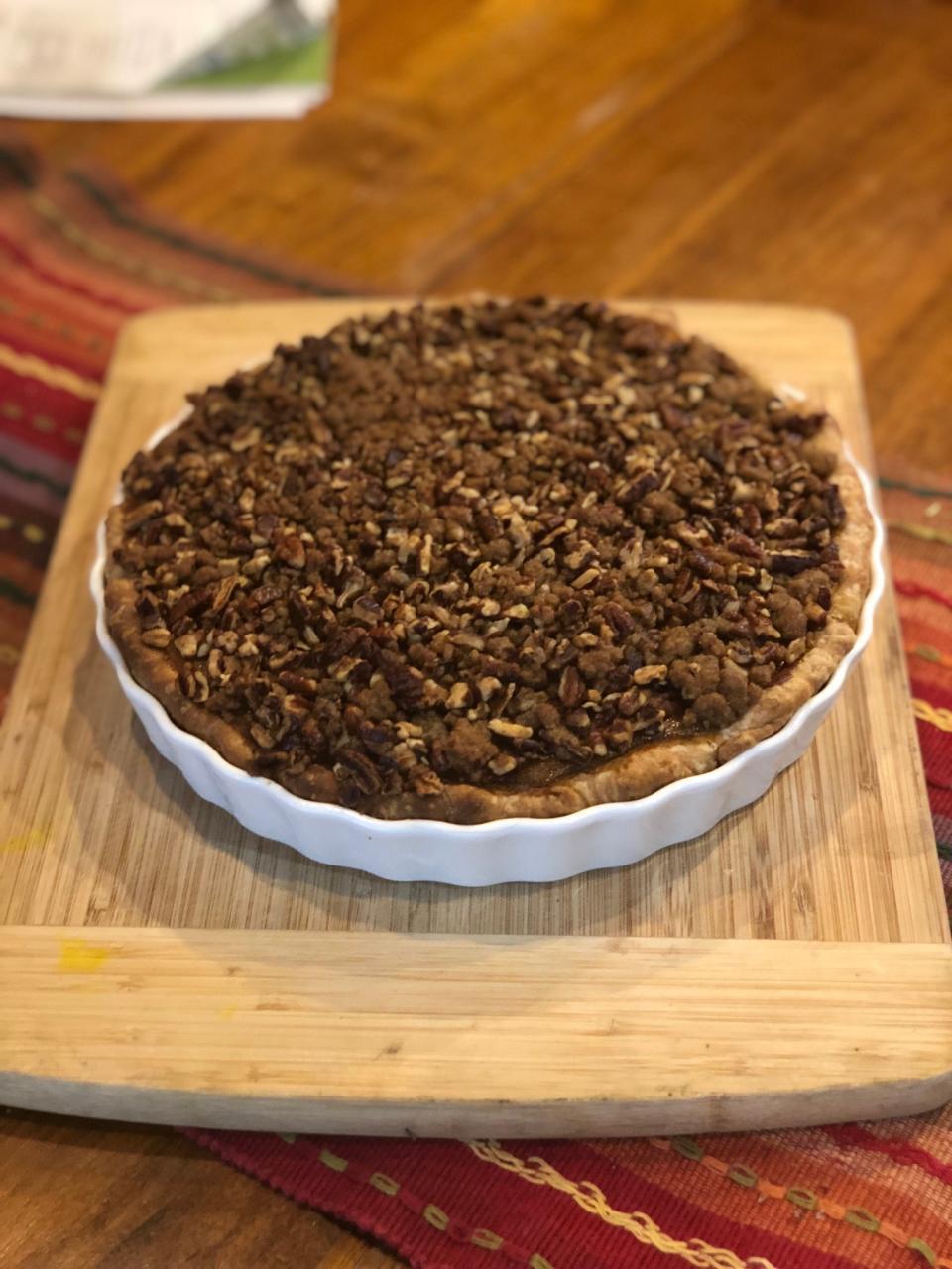 Extra Spicy Pumpkin Pecan Pie