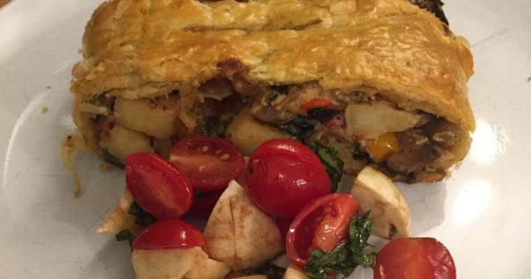 Vegetable Strudel in Puff Pastry