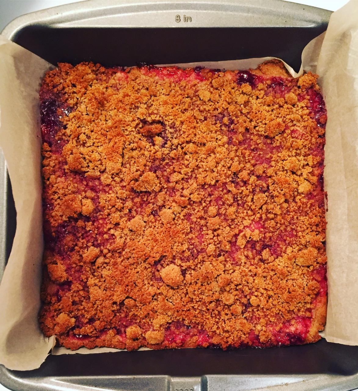 Coconut Flour Raspberry Bars