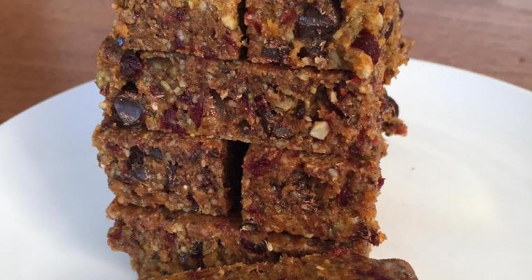 Apricot Cranberry Energy Bars – No Bake