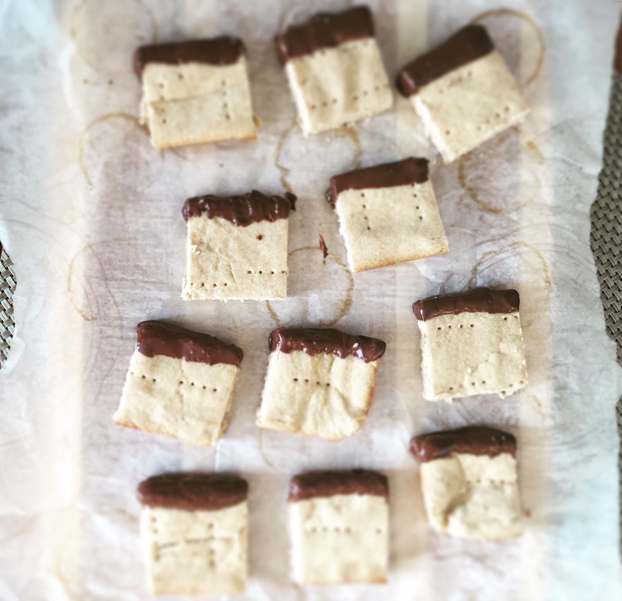 Coconut Flour Shortbread Squares