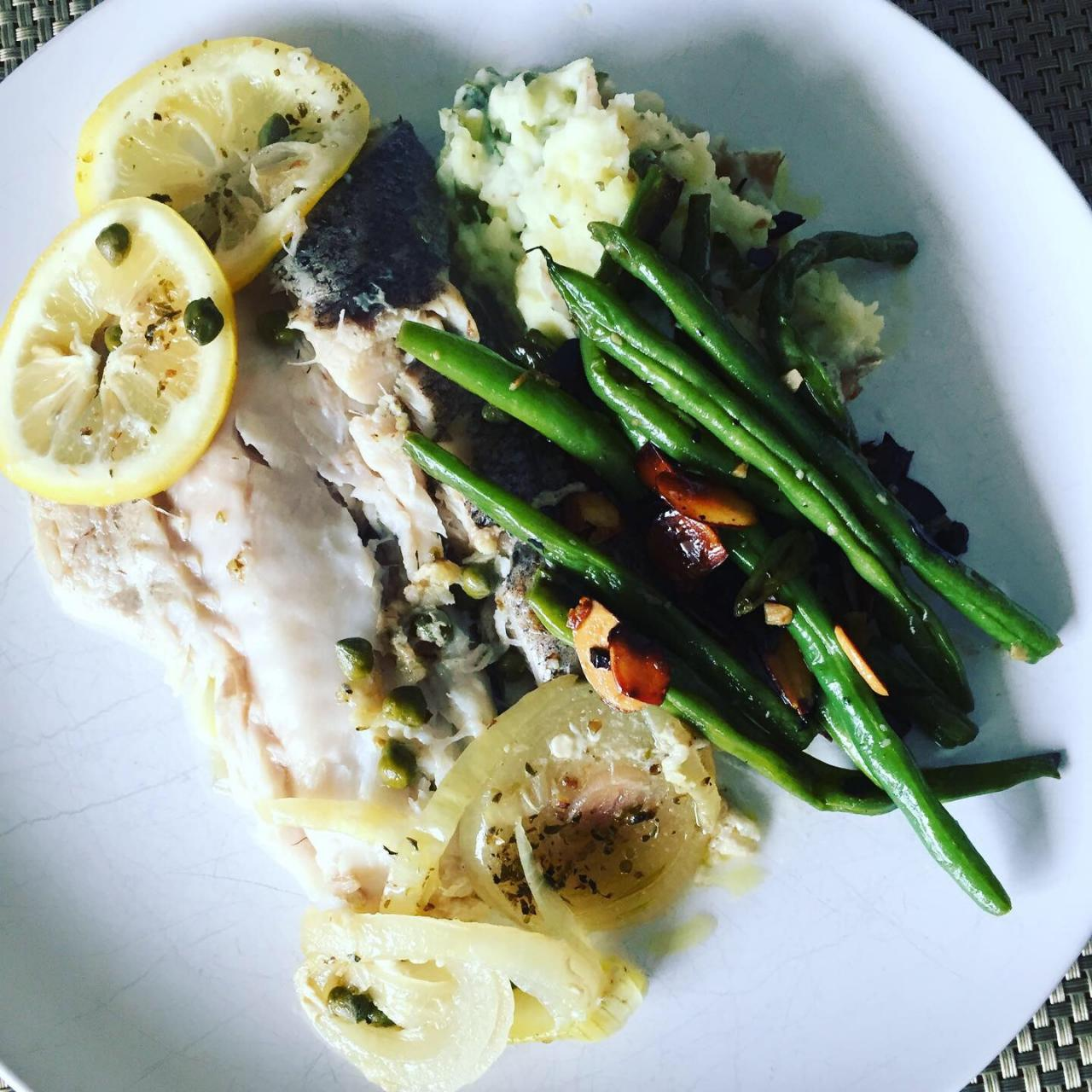 Hake n' Bake: Oven Roasted Hake with Lemon, Garlic and Capers