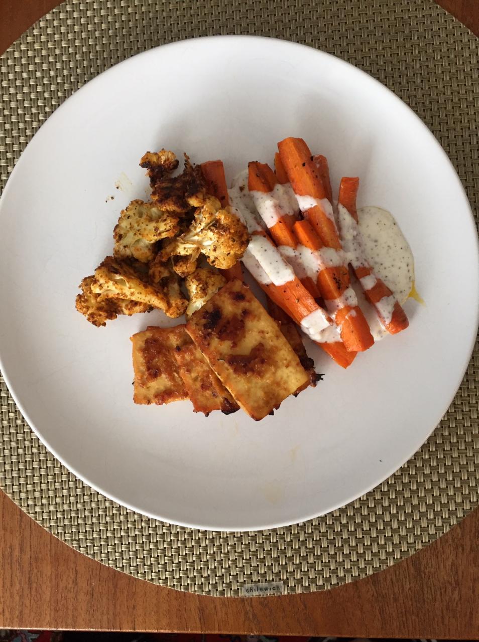 Baked Tofu with Miso and Sriracha