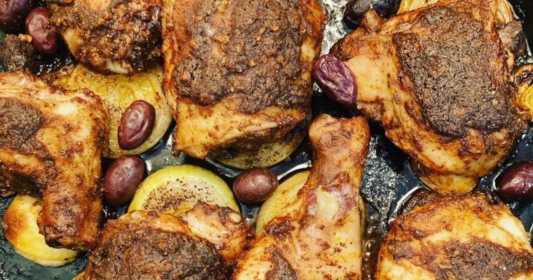 Ras el Hanout Baked Moroccan Chicken